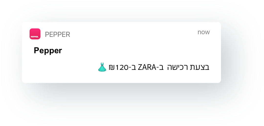 בצעת רכישה ב- ZARA ב- 120 ש״ח